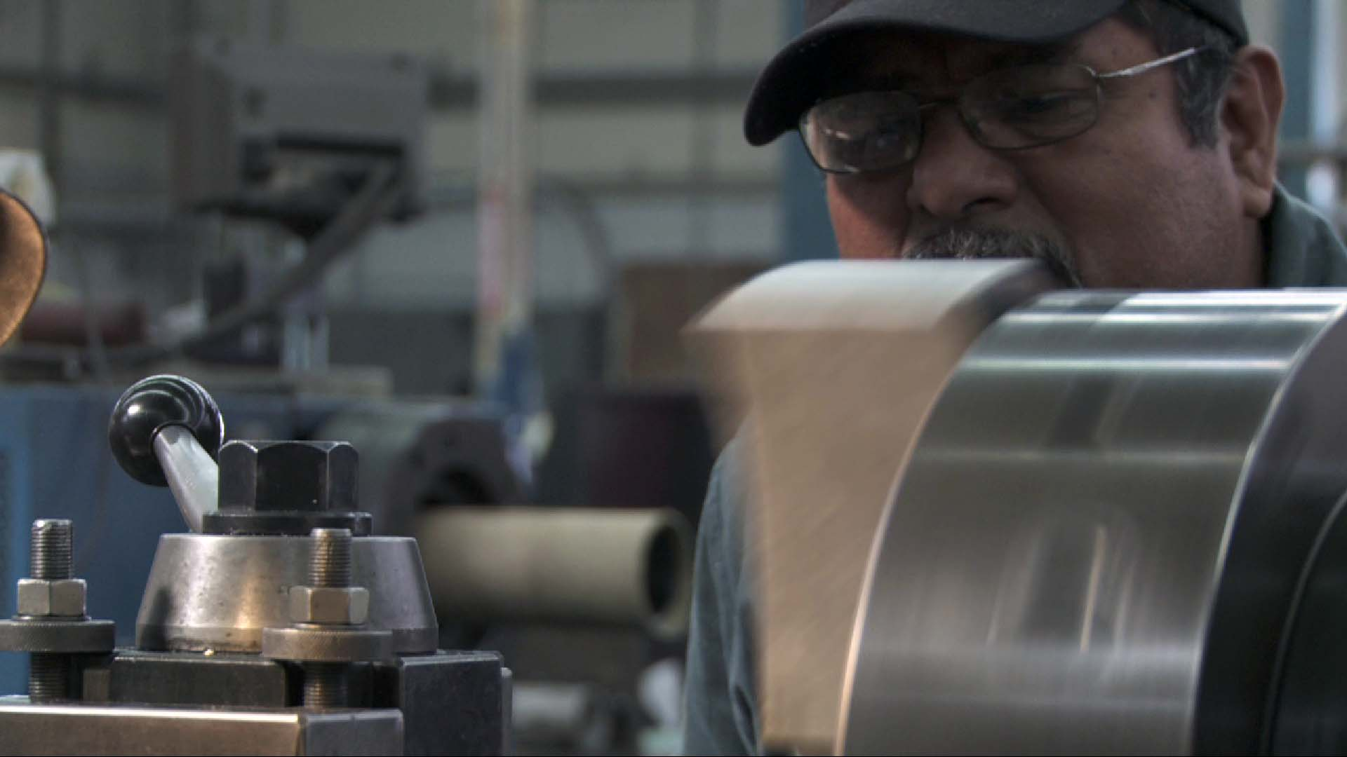 Working at the lathe